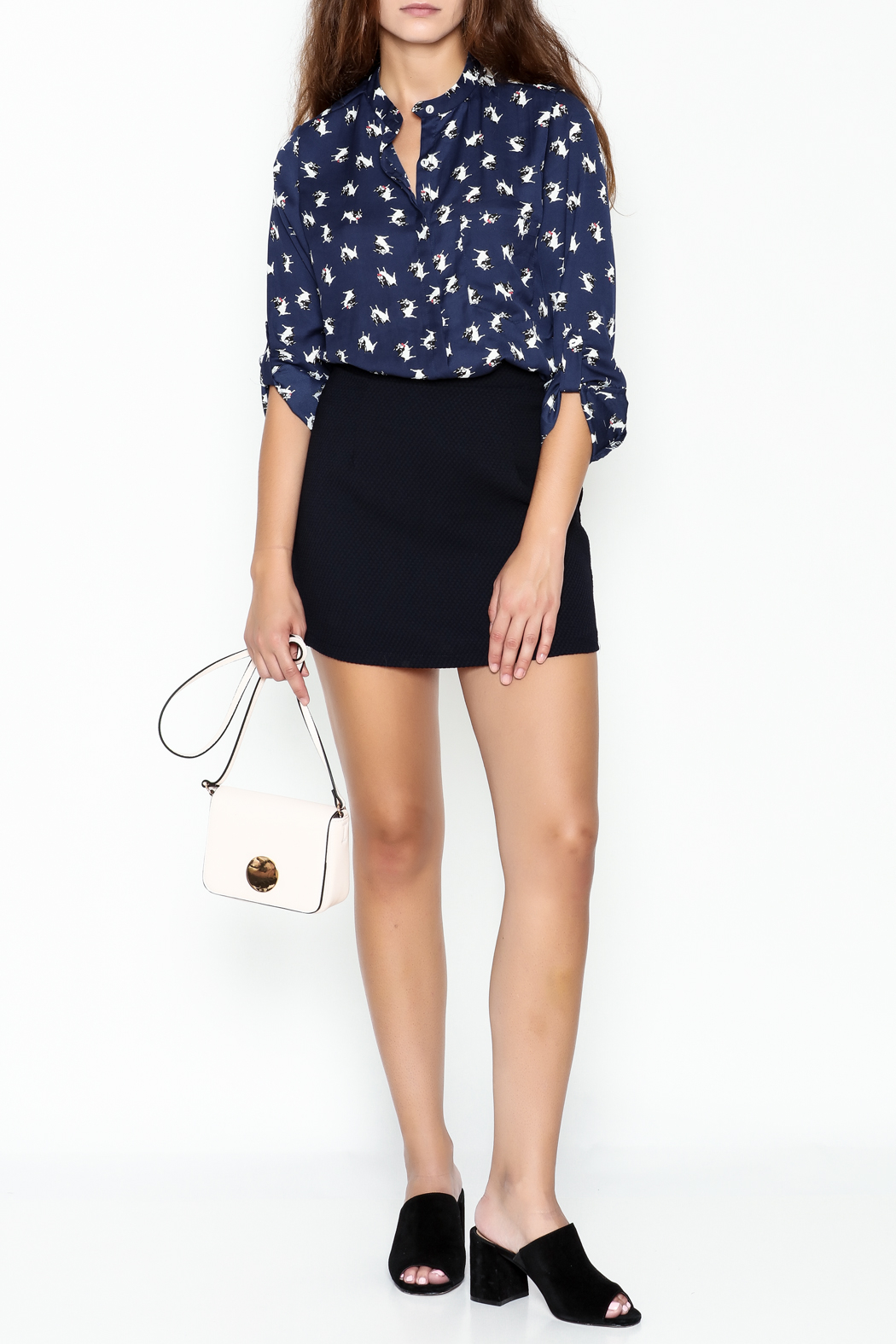 Everly Boston Terrier Blouse - Side Cropped Image
