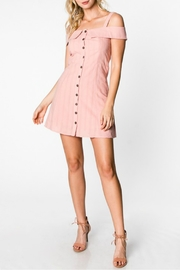 Everly Button Down Dress - Front full body
