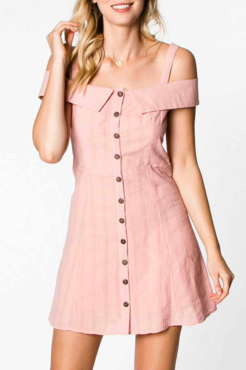 Everly Button Down Dress - Main Image