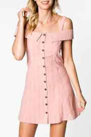 Everly Button Down Dress - Front cropped