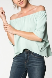 Everly Canary Top Sage - Front full body