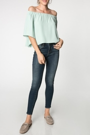 Everly Canary Top Sage - Product Mini Image