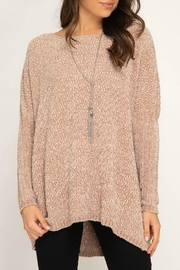 She + Sky Everly Chenille Sweater - Product Mini Image