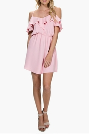 Everly Cold-Shoulder Ruffle Dress - Product Mini Image