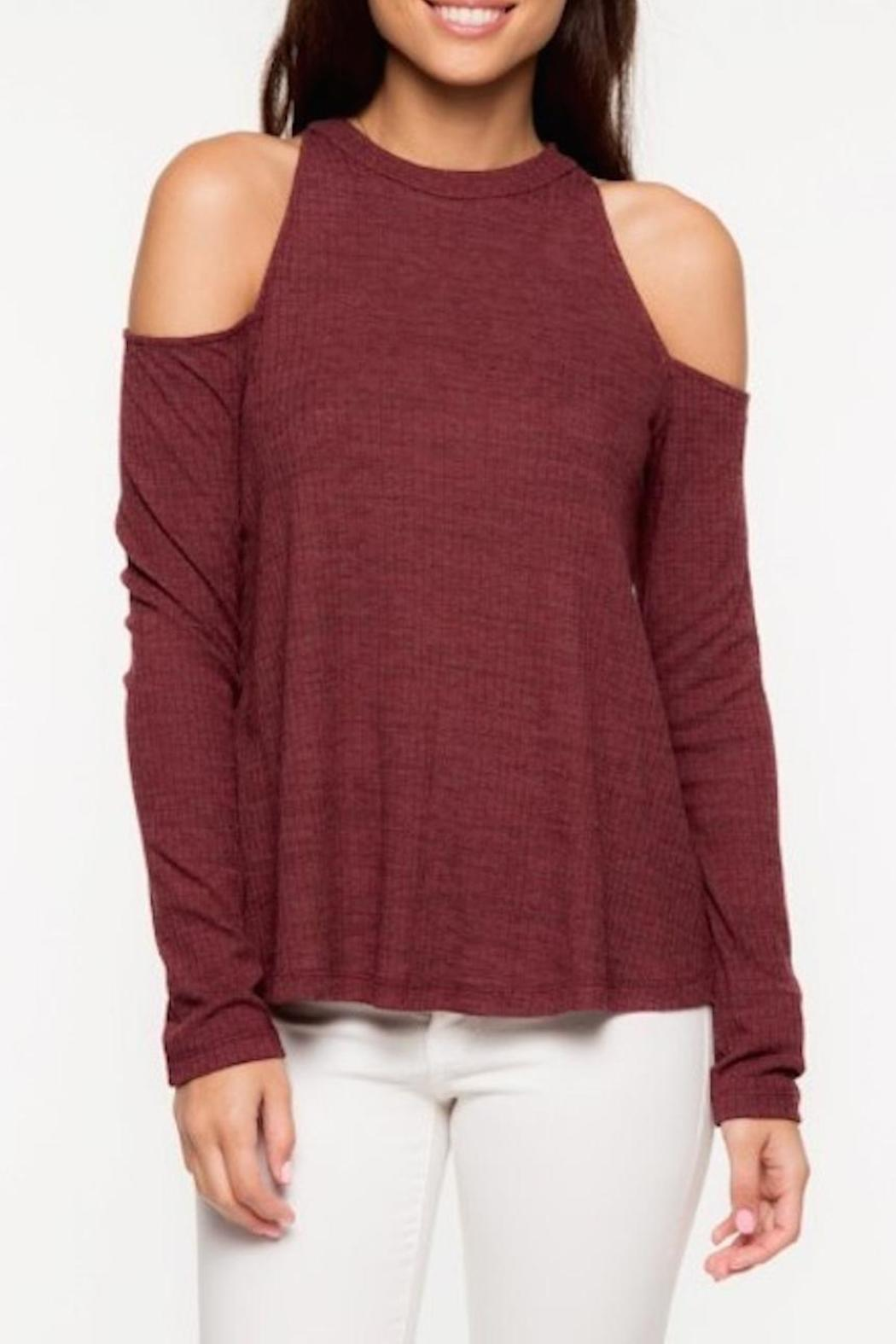 Everly Cold Shoulder Top - Main Image