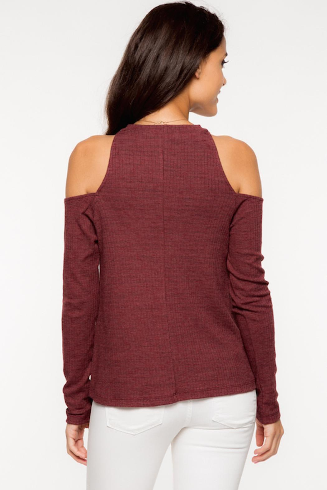 Everly Cold Shoulder Top - Front Cropped Image