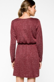 Everly Cranbery Wine Dress - Back cropped
