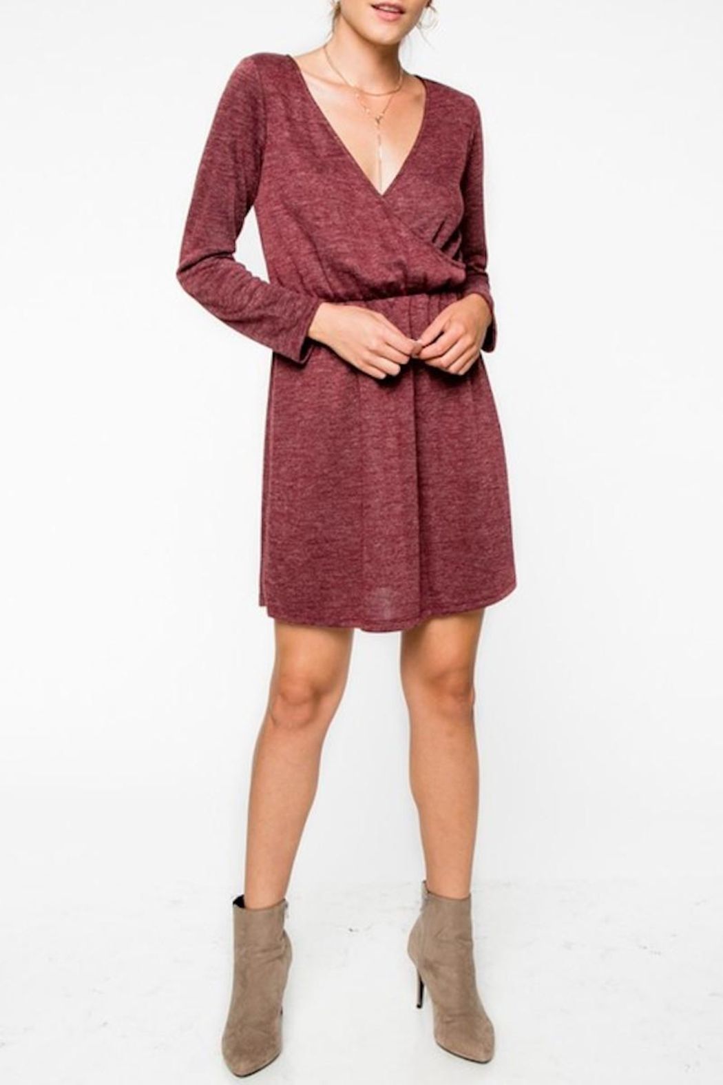 Everly Cranbery Wine Dress - Main Image