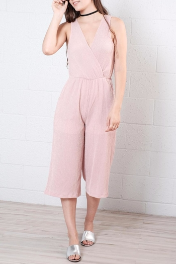 Everly Crepe Jumpsuit - Main Image