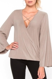 Everly Criss-Cross V-Neck Top - Product Mini Image