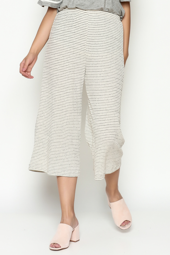 Everly Cropped Knit Pants - Main Image