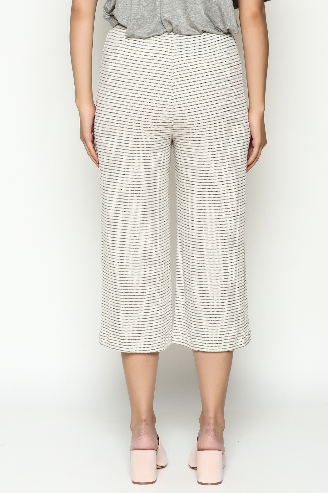 Everly Cropped Knit Pants - Back Cropped Image