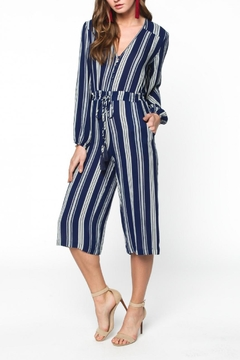 Shoptiques Product: Cropped Print Jumpsuit