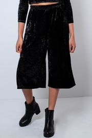 Everly Crushed Velvet Culottes - Front full body