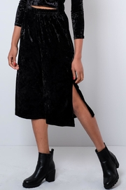 Everly Crushed Velvet Culottes - Front cropped