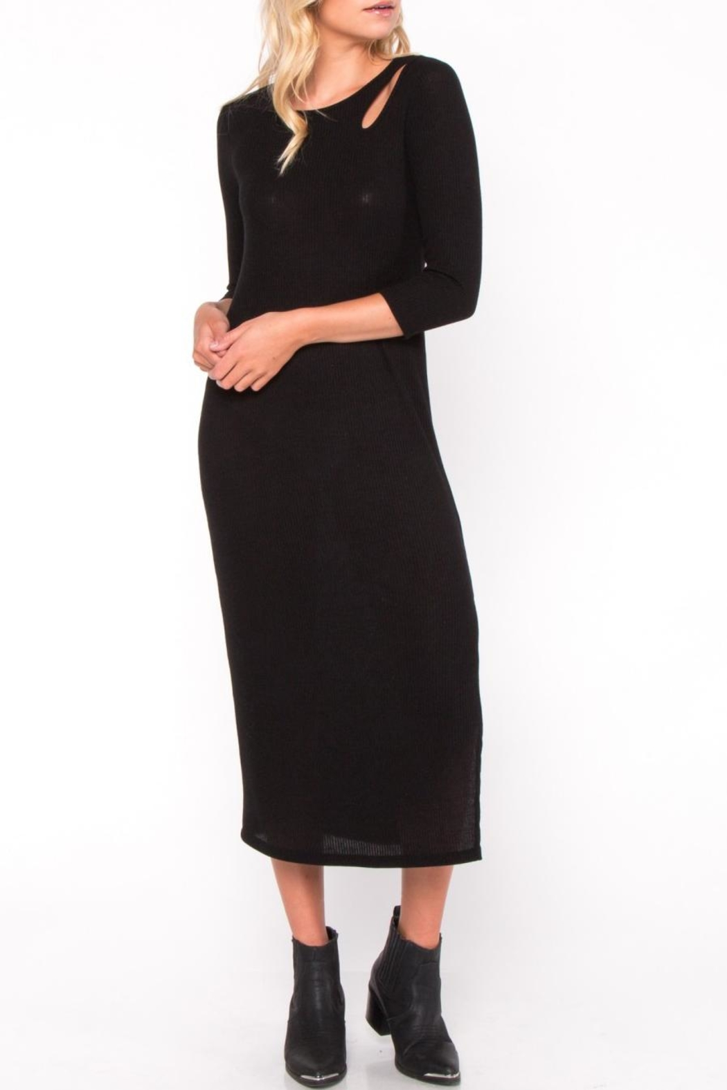 Everly Cutout Midi Dress - Front Full Image