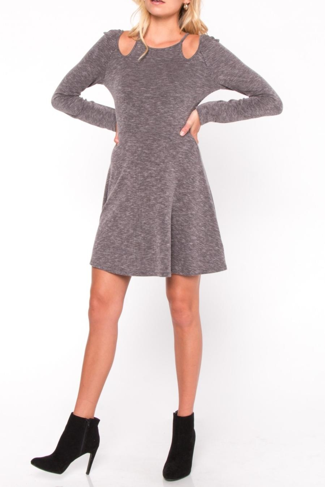 Everly Cutout Skater Dress - Front Cropped Image