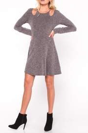 Everly Cutout Skater Dress - Front cropped