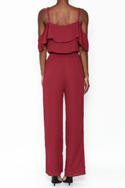 Everly Deep Red Jumpsuit - Back cropped