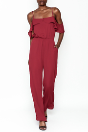 Everly Deep Red Jumpsuit - Product Mini Image