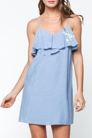 Everly Blue Sleeveless Dress - Product Mini Image