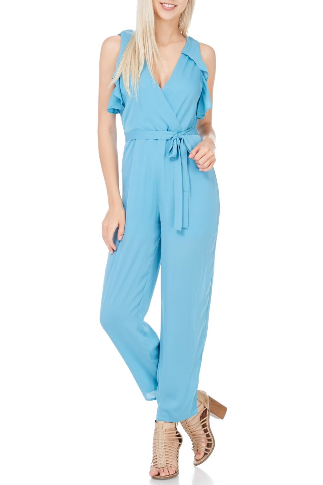 Everly Dusty Blue Lined Jumper - Main Image