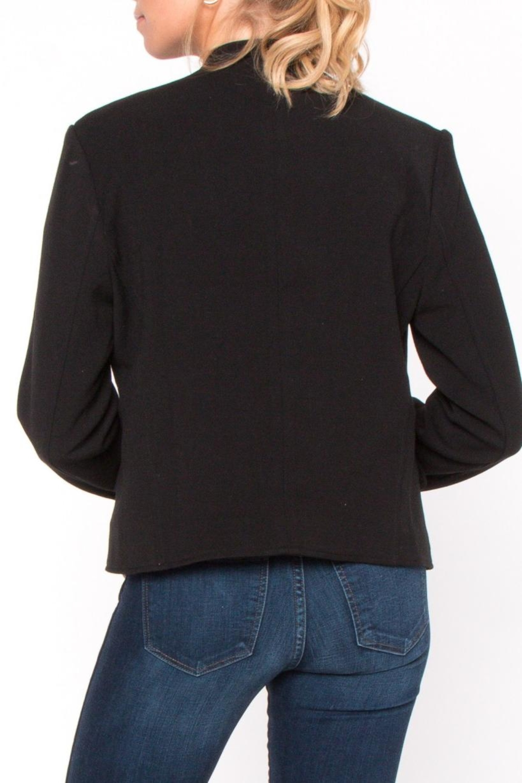 Everly Embroidered Button Jacket - Side Cropped Image