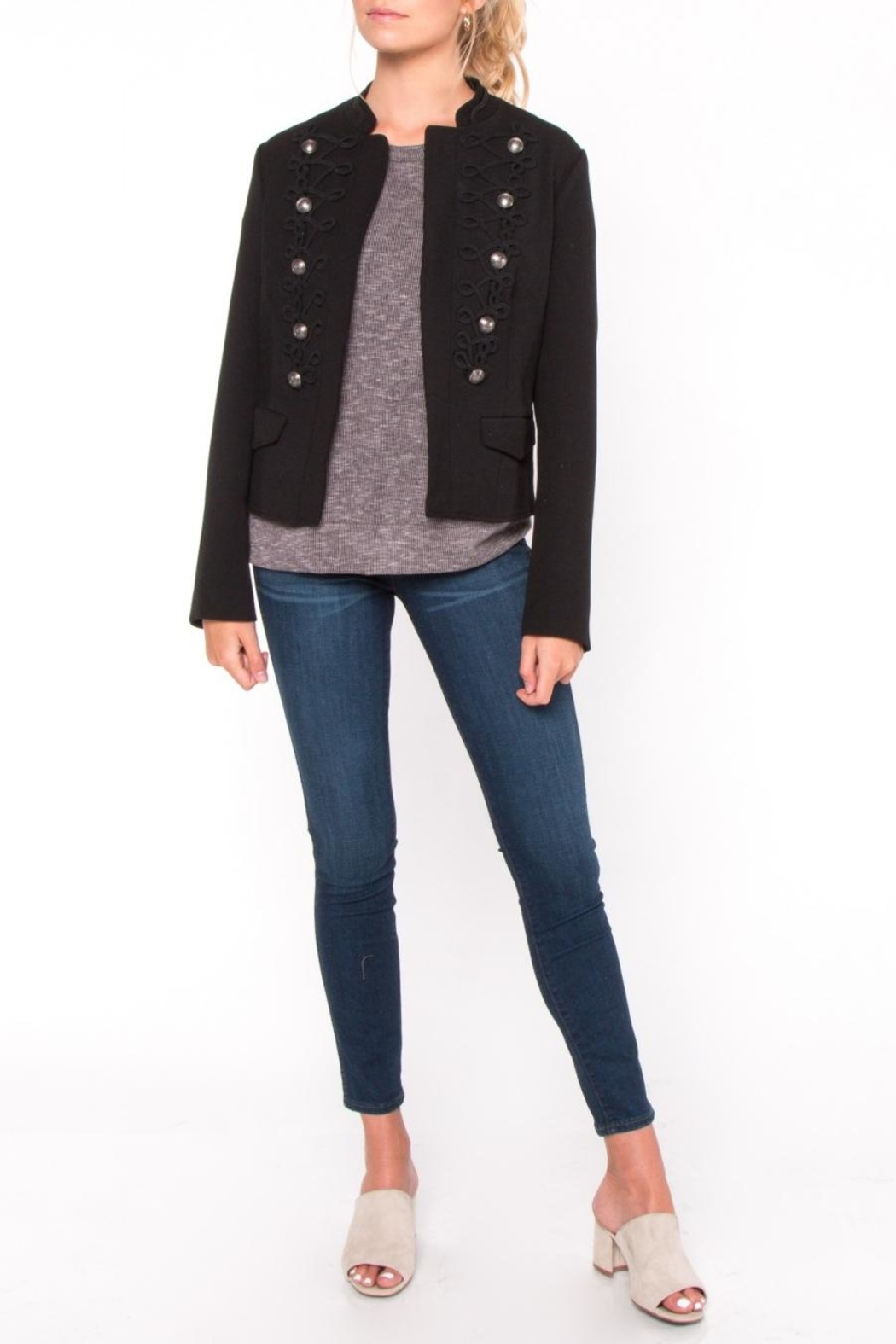 Everly Embroidered Button Jacket - Front Full Image