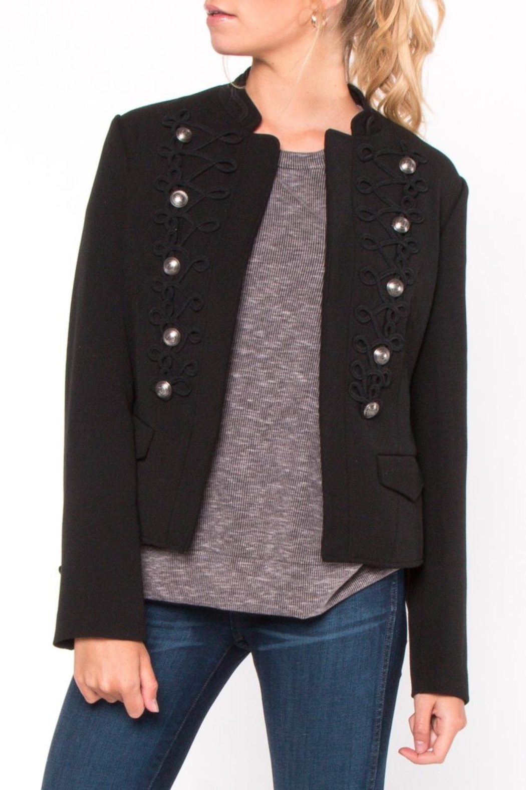 Everly Embroidered Button Jacket - Main Image