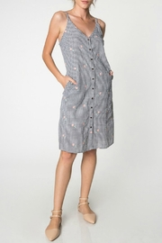 Everly Embroidered Gingham Dress - Product Mini Image
