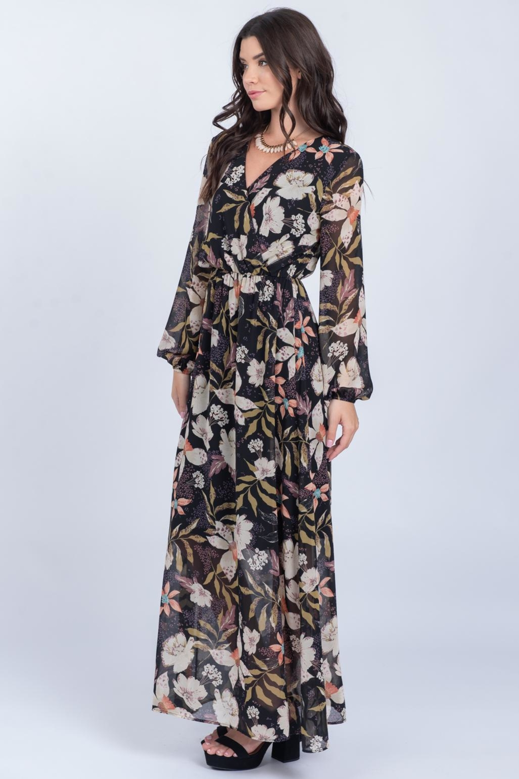 Everly Fall Floral Maxi - Front Full Image