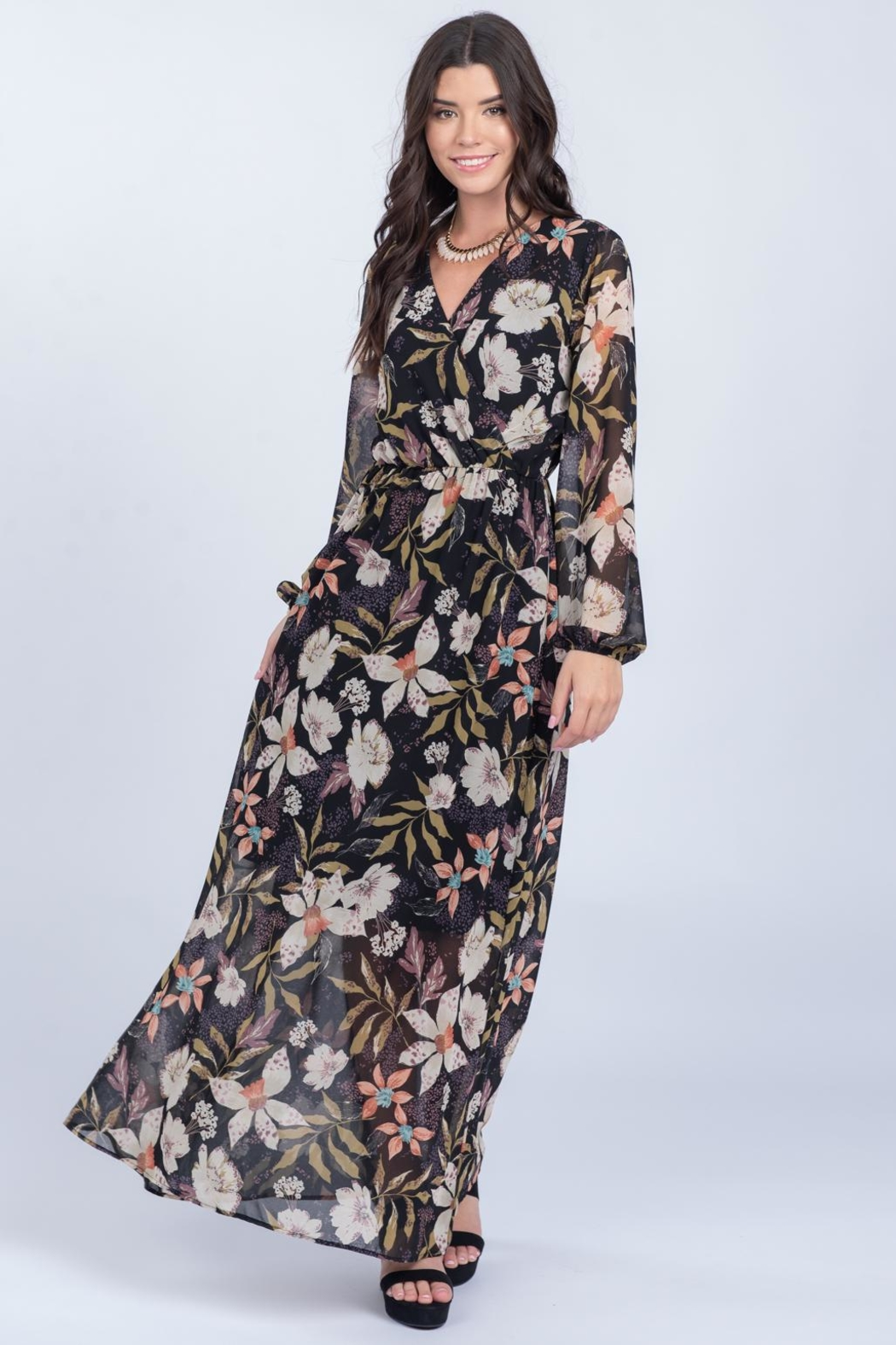Everly Fall Floral Maxi - Main Image