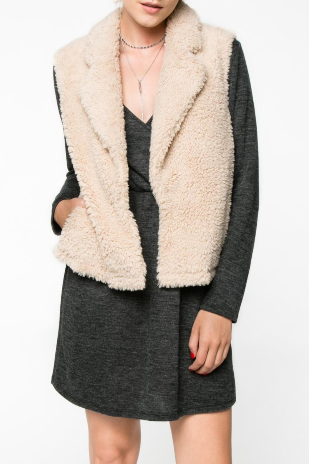 Everly Faux Fur Vest - Front Full Image