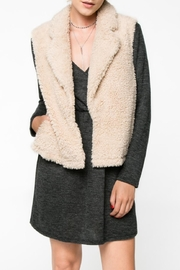 Everly Faux Fur Vest - Front full body