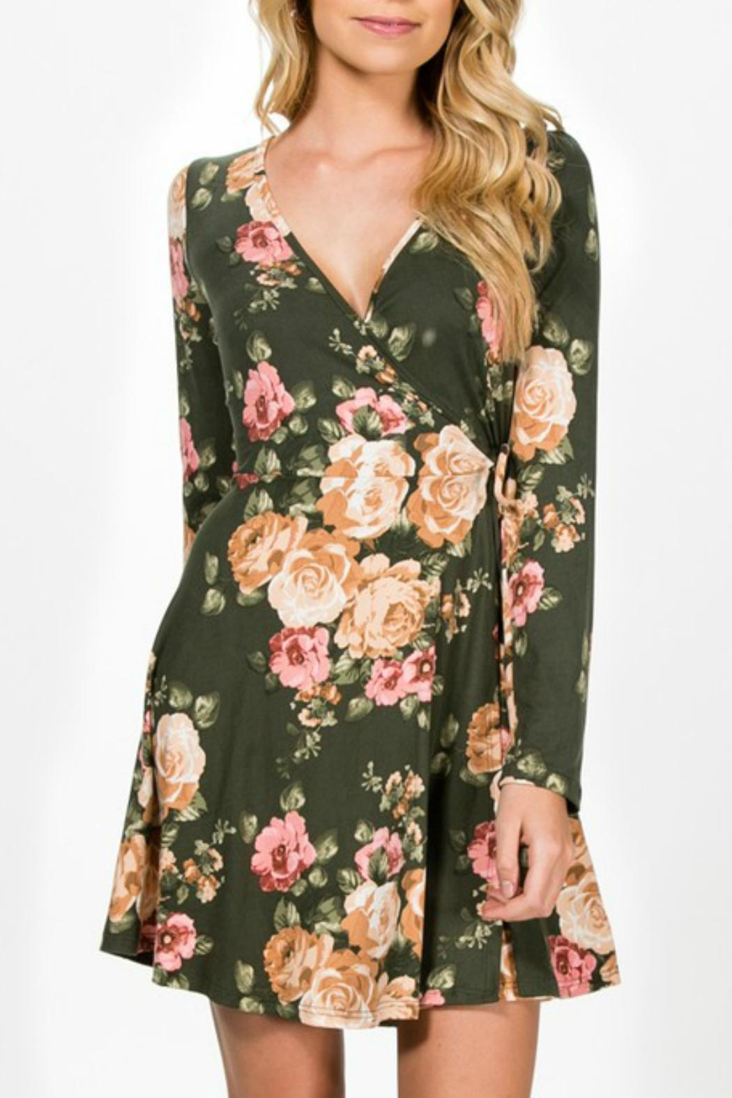 Everly Faux-Wrap Floral Dress - Main Image
