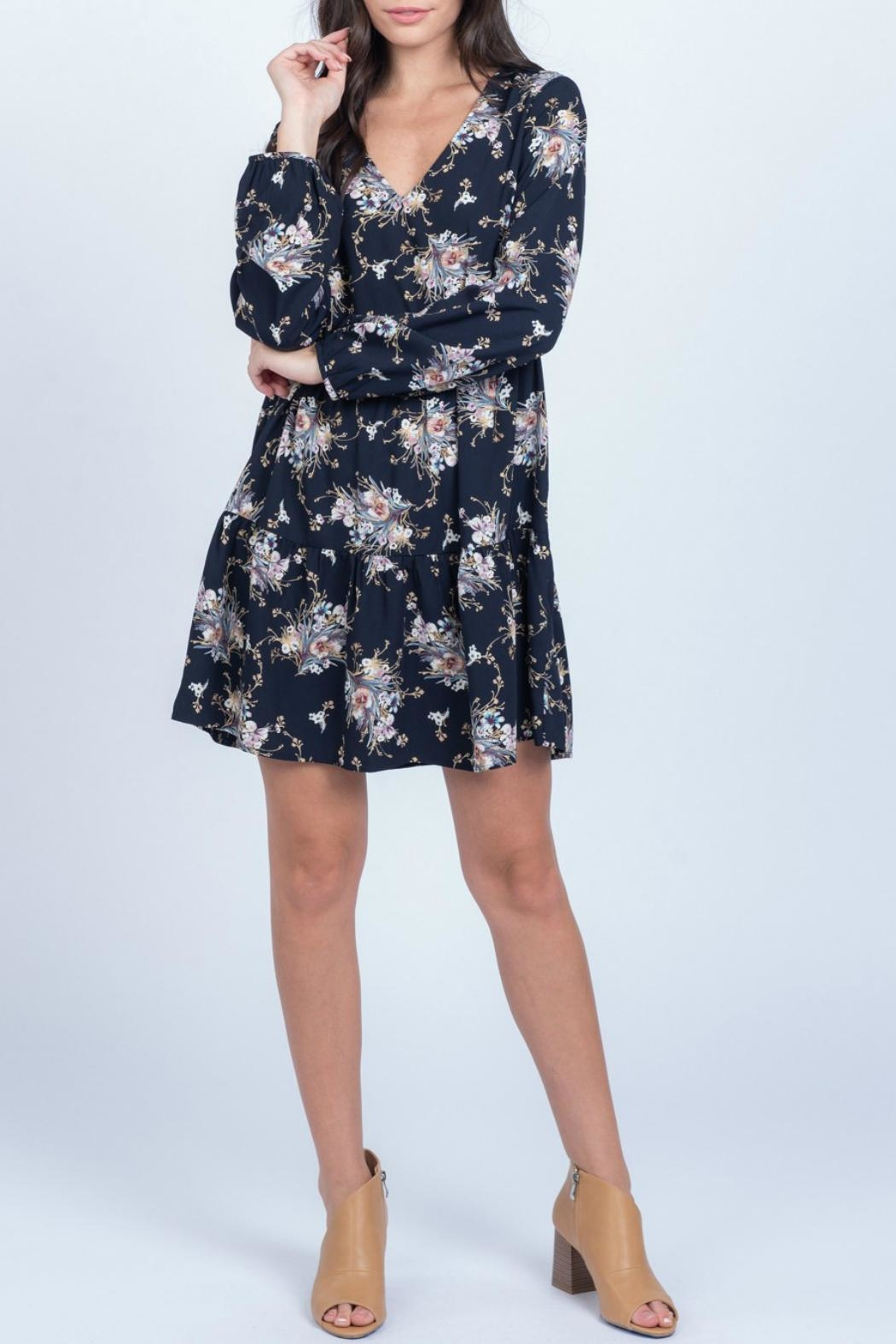 Everly Floral Babydoll Dress - Back Cropped Image