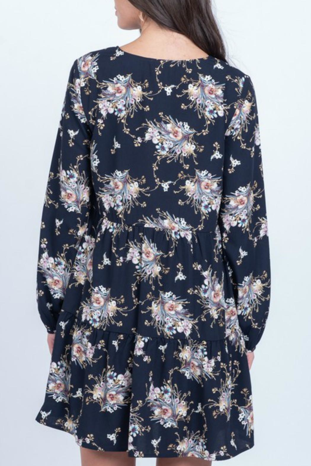 Everly Floral Babydoll Dress - Front Full Image