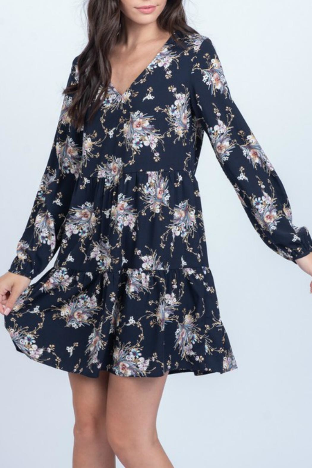 Everly Floral Babydoll Dress - Main Image