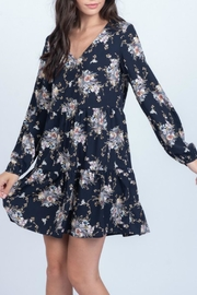 Everly Floral Babydoll Dress - Front cropped