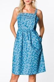 Everly Floral Bib Dress - Product Mini Image
