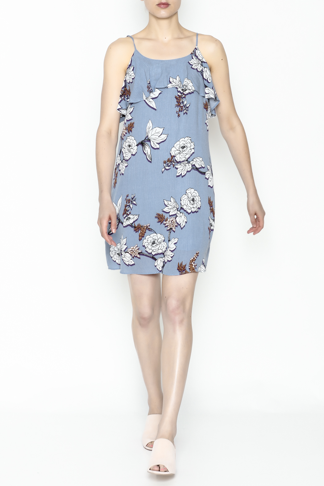 Everly Floral Cami Dress - Side Cropped Image