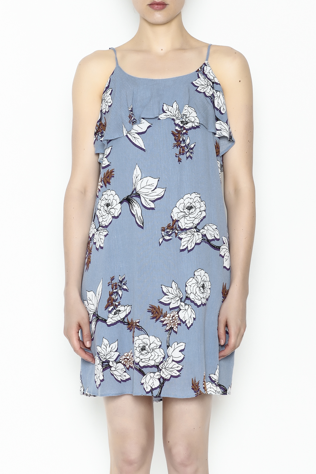 Everly Floral Cami Dress - Front Full Image