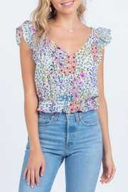 Everly Floral Crop Top - Product Mini Image