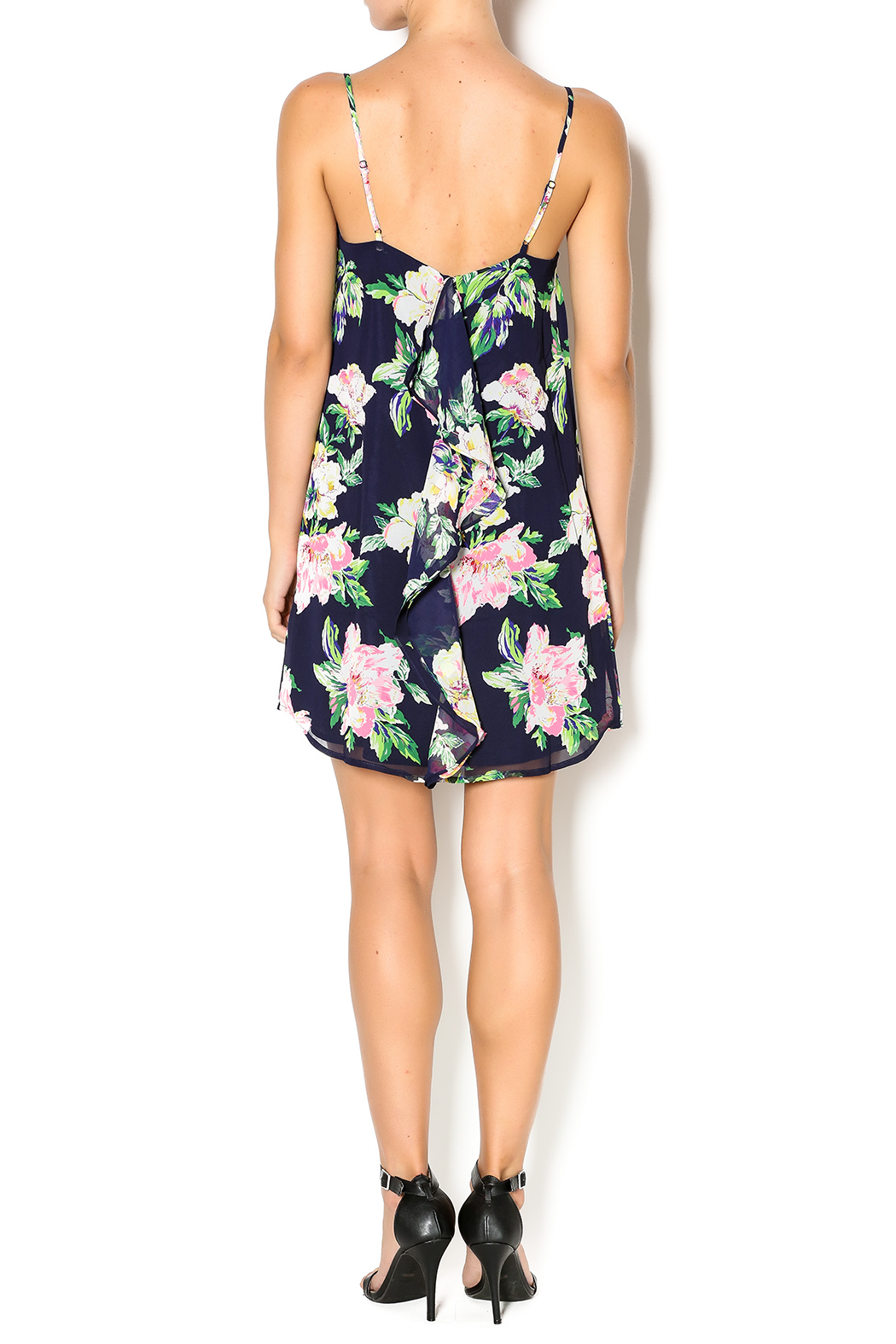 Everly Floral Dress - Side Cropped Image