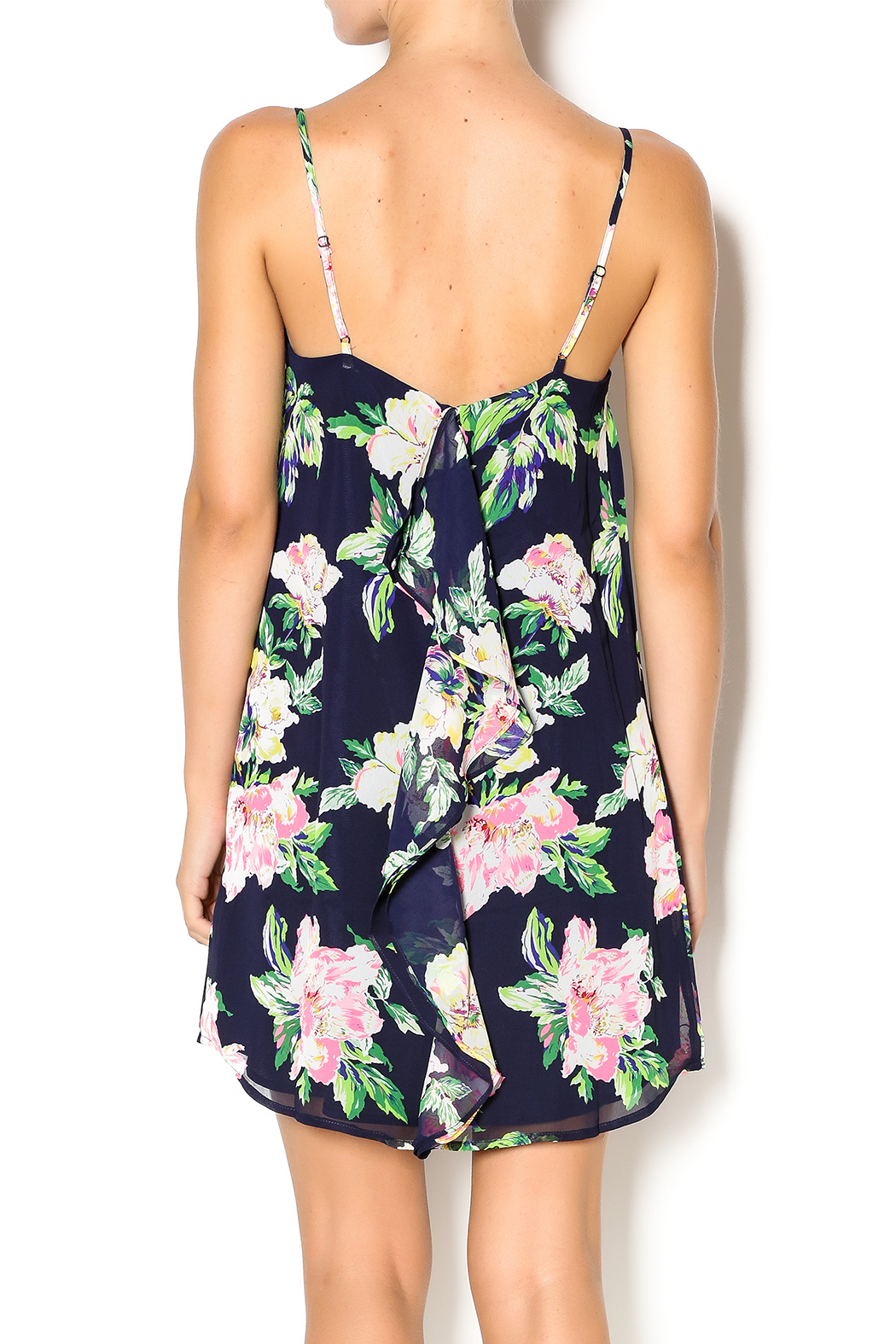 Everly Floral Dress - Back Cropped Image