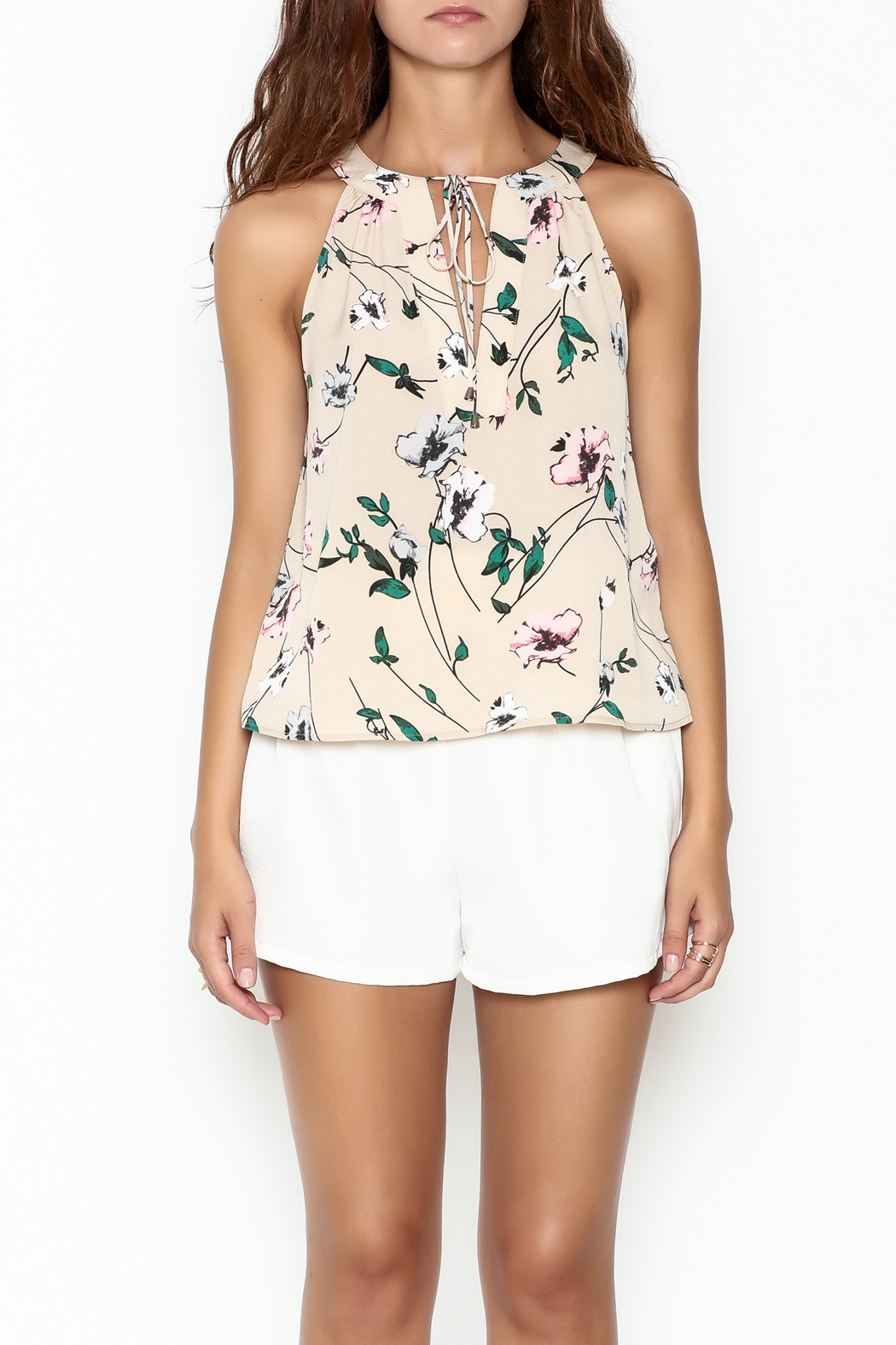 Everly Floral Halter Top - Front Full Image