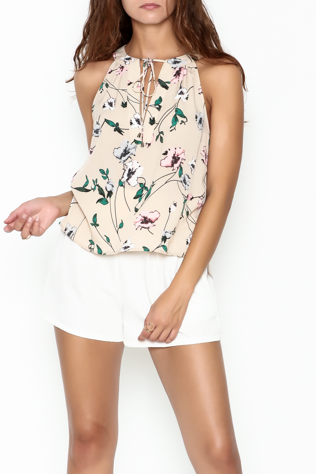 Everly Floral Halter Top - Main Image