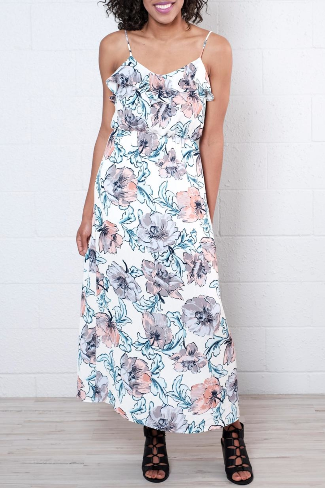 Everly Floral Maxi Dress - Front Full Image