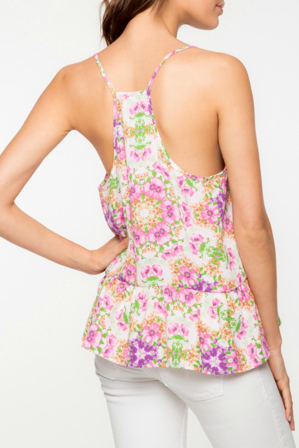 Everly Floral Peplum Tank - Front Full Image