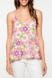 Everly Floral Peplum Tank - Product Mini Image